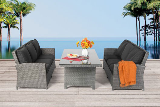 rattan gartentisch in verschiedenen gr ssen 220cm 180cm 160cm 90cm oder 80cm rattanm bel. Black Bedroom Furniture Sets. Home Design Ideas
